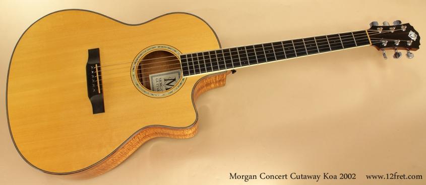 Morgan Concert Cutaway Koa 2002 full front view