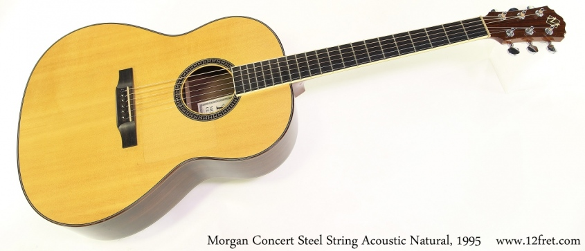 Morgan Concert Steel String Acoustic Natural, 1995 Full Front View