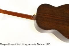 Morgan Concert Steel String Acoustic Natural, 1995 Full Rear View