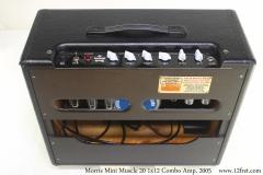 Morris Mini Muscle 20 1x12 Combo Amp, 2005 Full Rear View