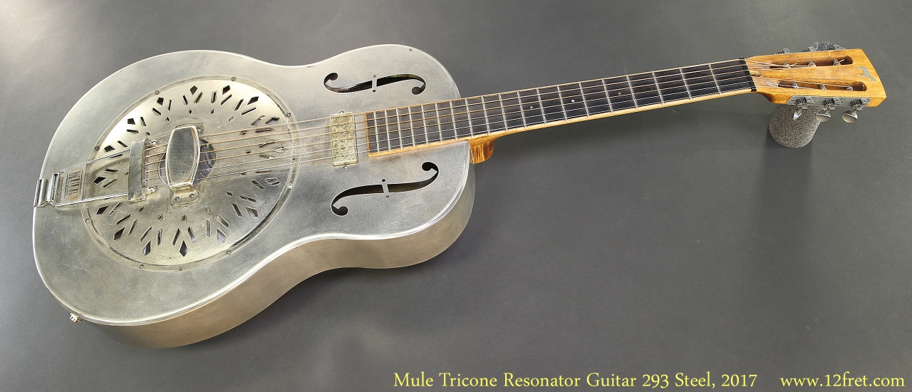 Mule Tricone Resonator Guitar 293 Steel, 2017 Full Front View