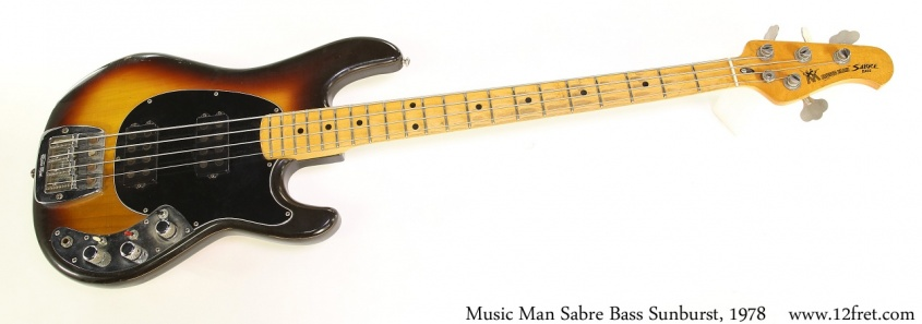 Music Man Sabre Bass Sunburst, 1978 Full Front View