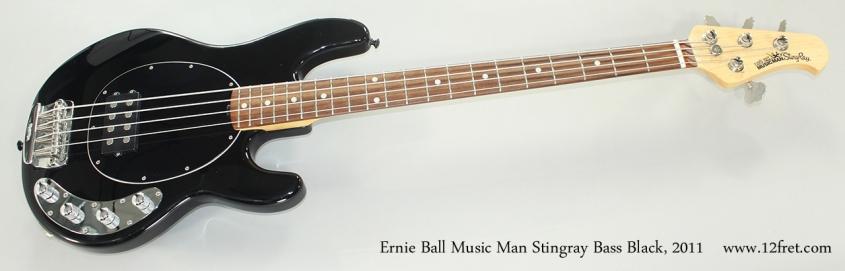 Ernie Ball Music Man Stingray Bass Black, 2011 Full Front View