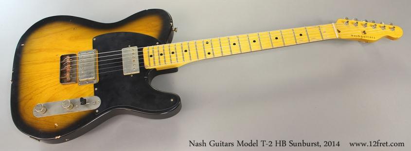 Nash Guitars Model T-2 HB Sunburst, 2014 Full Front View
