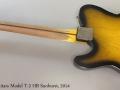 Nash Guitars Model T-2 HB Sunburst, 2014 Full Rear View