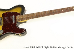 Nash T-63 Relic T Style Guitar Vintage Burst, 2007 Full Front View