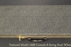 National Model 1008 Console 8 String Steel White, 1961 Case Closed View
