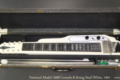 National Model 1008 Console 8 String Steel White, 1961 Case Open View