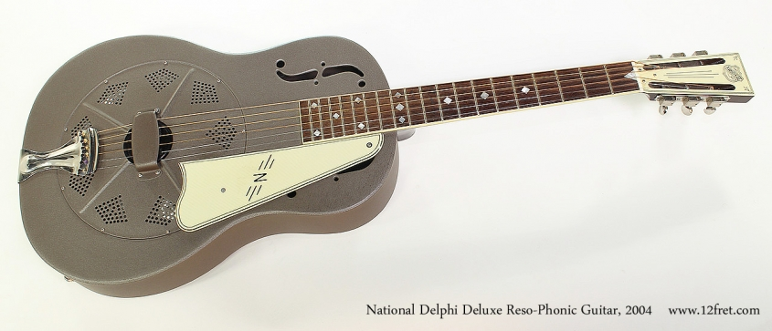 National Delphi Deluxe Reso-Phonic Guitar, 2004 Full Front View