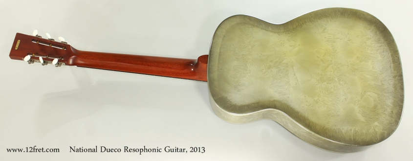 National Dueco Resophonic Guitar, 2013 Full Rear View