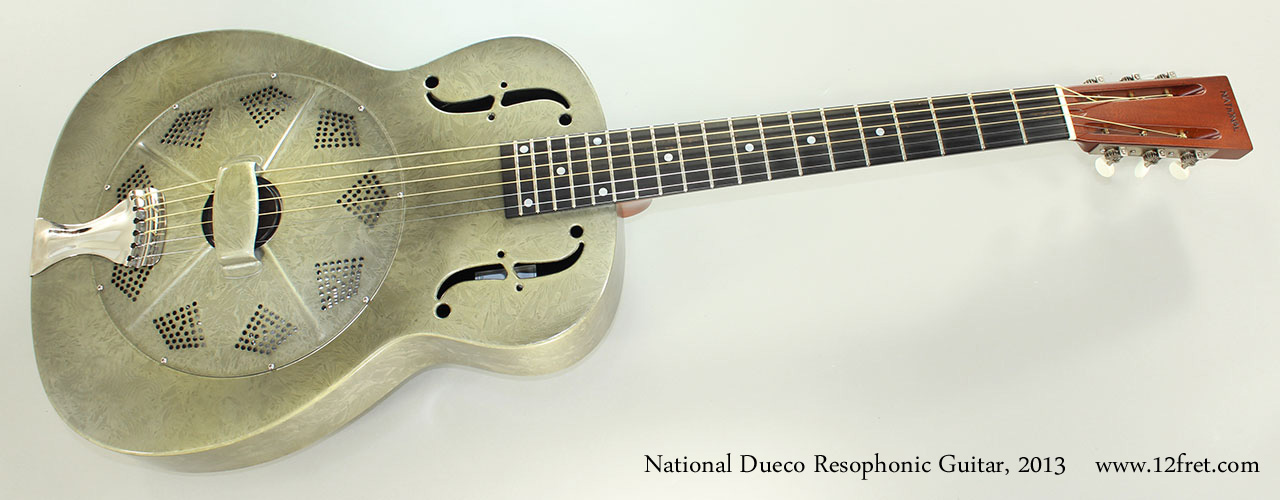 National Dueco Resophonic Guitar, 2013 Full Front View