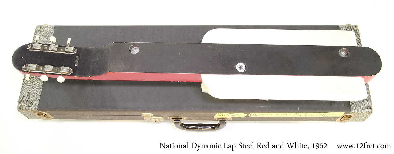 National Dynamic Lap Steel Red and White, 1962 Full Rear View