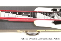 National Dynamic Lap Steel Red and White, 1962 Full Front View