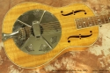 National Estralita Deluxe Koa Resophonic Guitar 2005 top