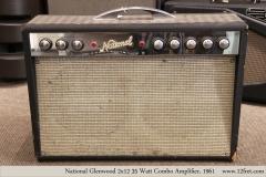 National Glenwood  2x12 35 Watt Combo Amplifier, 1961  Full Front VIew