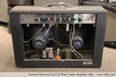 National Glenwood  2x12 35 Watt Combo Amplifier, 1961  Full Rear View