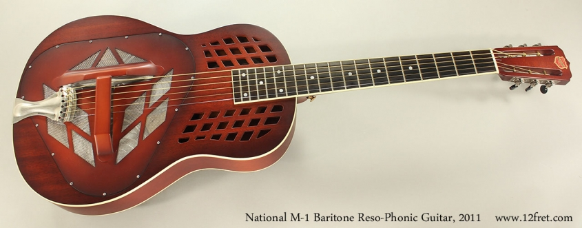 National M-1 Baritone Reso-Phonic Guitar, 2011 Full Front View
