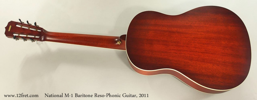 National M-1 Baritone Reso-Phonic Guitar, 2011 Full Rear View