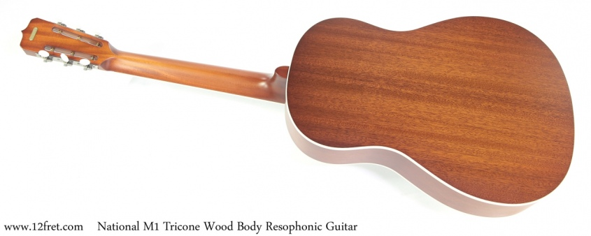 National M-1 Tricone Wood Body Resophonic Guitar Full Rear View