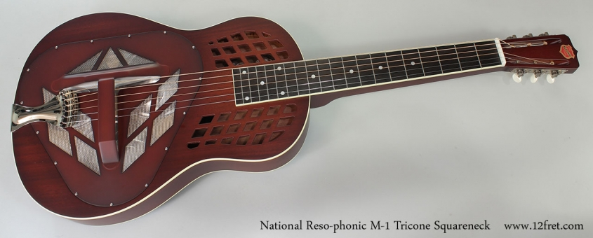 National Reso-phonic M-1 Tricone Squareneck Full Front View