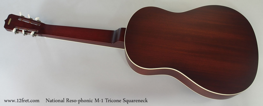 National Reso-phonic M-1 Tricone Squareneck Full Rear View
