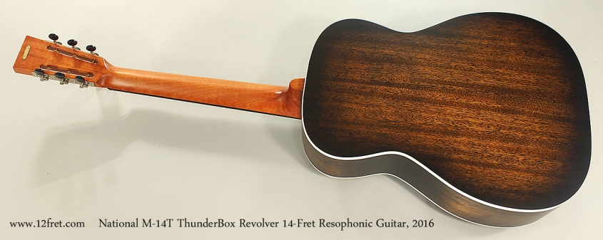 National M-14T ThunderBox Revolver 14-Fret Resophonic Guitar, 2016 Full Rear View