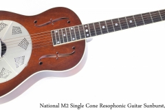 National M2 Single Cone Resophonic Guitar Sunburst, 2007 Full Front View