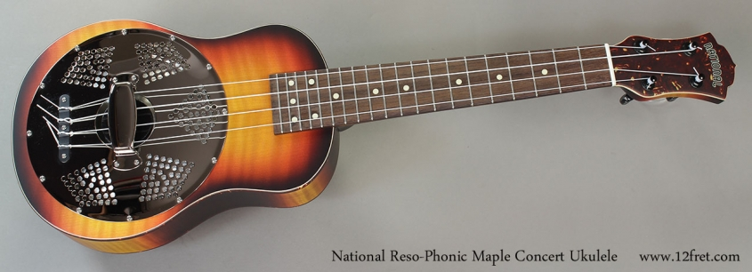 National Reso-Phonic Maple Concert Ukulele Full Front VIew