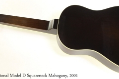 National Model D Squareneck Mahogany, 2001 Full Rear View