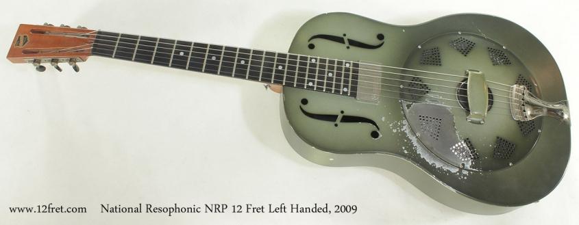 National Resophonic NRP 12 Fret Left Handed, 2009 full front view