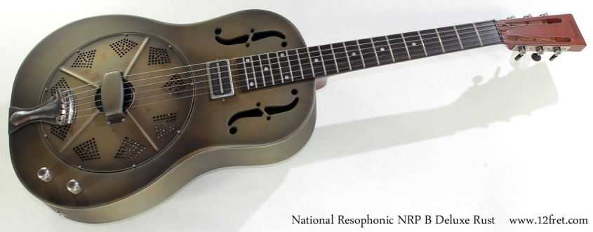 National Resophonic NRP B Deluxe Rust full front view