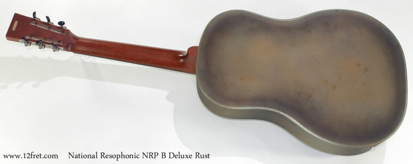 National Resophonic NRP B Deluxe Rust full rear view