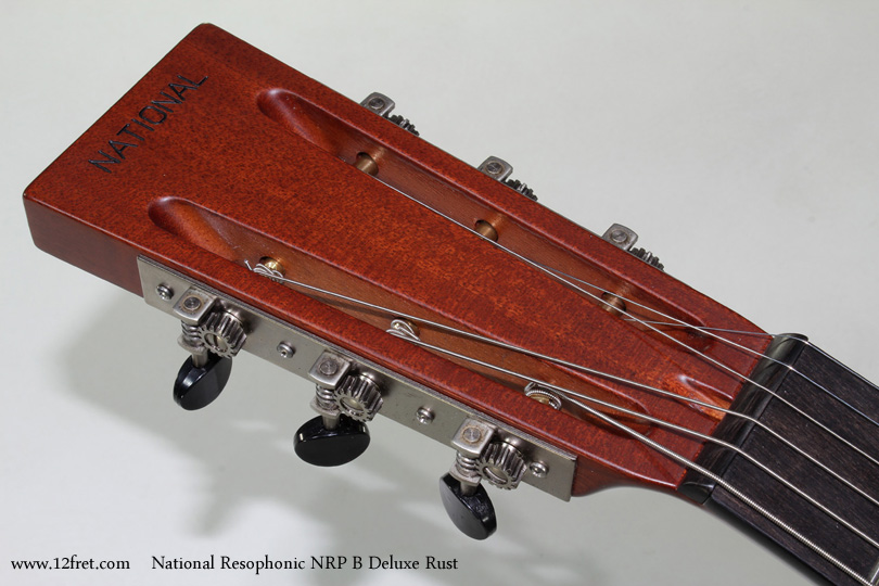 National Resophonic NRP B Deluxe Rust head front