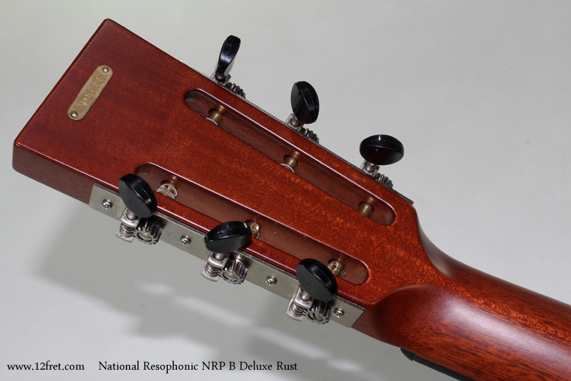 National Resophonic NRP B Deluxe Rust head rear
