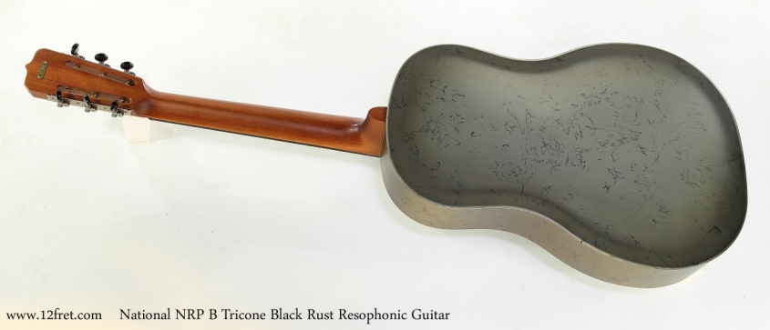 National NRP B Tricone Black Rust Resophonic Guitar   Full Rear View