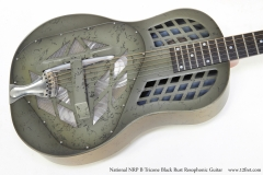 National NRP B Tricone Black Rust Resophonic Guitar   Top View