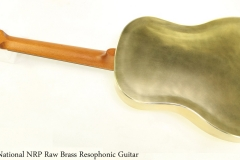 National NRP Raw Brass Resophonic Guitar Full Rear View