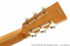 National NRP Raw Brass Resophonic Guitar Heaad Rear View