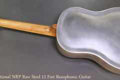 National NRP Raw Steel 12 Fret Resophonic Guitar Full Rear View