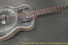 National NRP Raw Steel 14 Fret Resophonic Guitar Full Front View