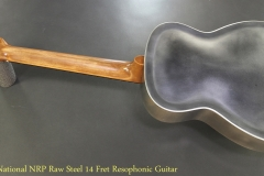National NRP Raw Steel 14 Fret Resophonic Guitar Full Rear View