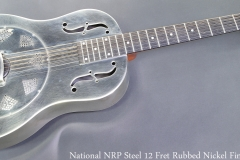 National NRP Steel 12 Fret Rubbed Nickel Finish Full Front View