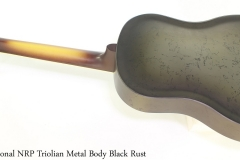 National NRP Triolian Metal Body Black Rust Full Rear View