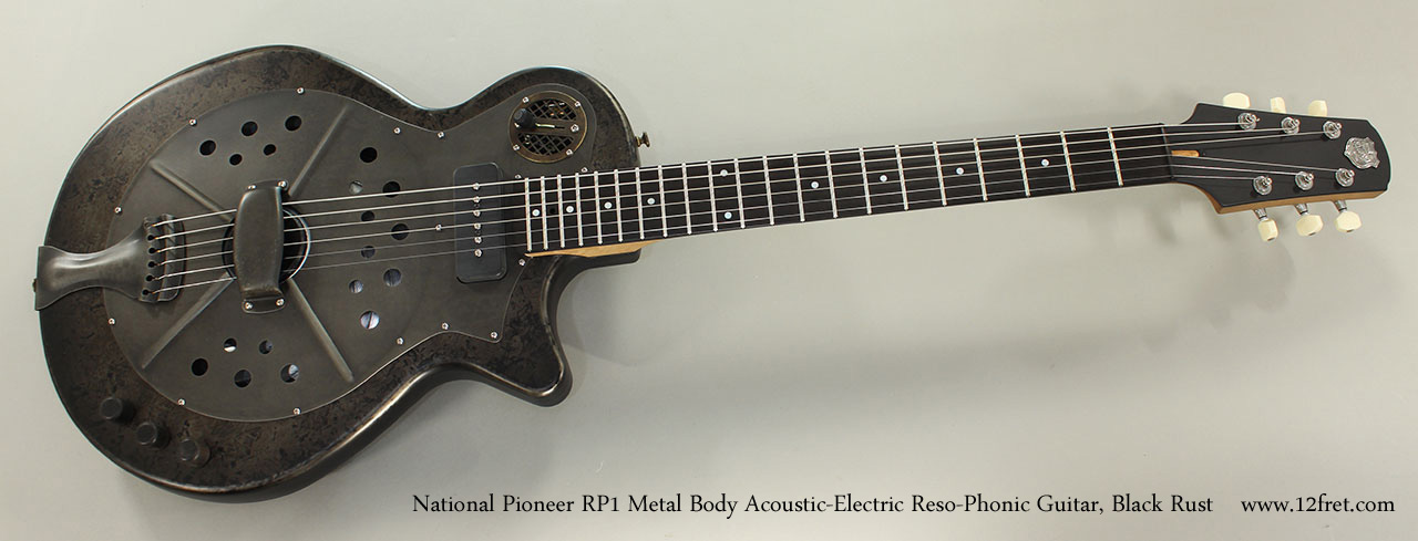 national pioneer rp1 metal body electric guitar chipped ivory. Black Bedroom Furniture Sets. Home Design Ideas
