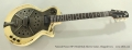 National Pioneer RP1 Metal Body Electric Guitar, Chipped Ivory Full Front View