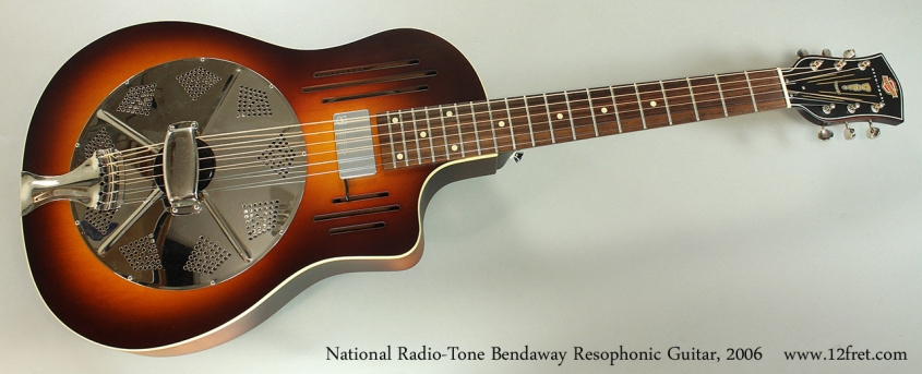 National Radio-Tone Bendaway Resophonic Guitar, 2006 Full Front View