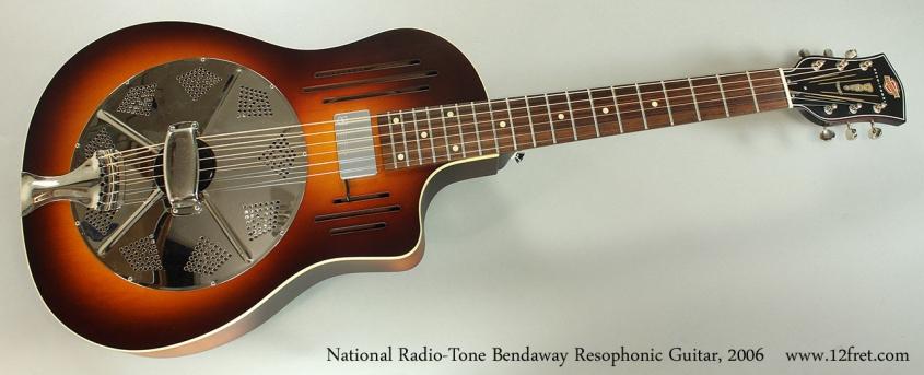 National Radio-Tone Bendaway Resophonic Guitar, 2006 Full Front View