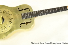 National Raw Brass Resophonic Guitar Full Front View