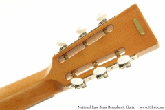 National Raw Brass Resophonic Guitar Heaad Rear View
