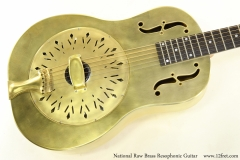 National Raw Brass Resophonic Guitar Top View